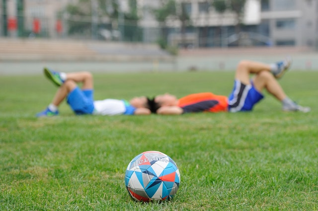 football en colonie de vacances