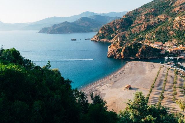plage d'Ota en Corse